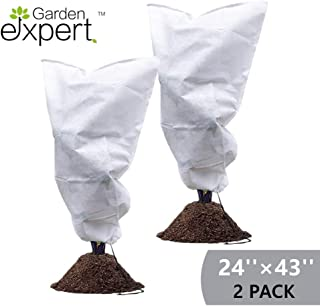Garden EXPERT Plant Cover Frost Protection Bag Shrubs & Trees Jacket, Prevent Damage, Bad Weather and Pests Thickening of Wind(2-Pack 24'' × 43'')