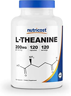 Sponsored Ad - Nutricost L-Theanine 200mg, 120 Capsules - Double Strength