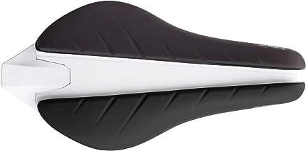Fabric Tri Elite Flat Saddle: Black/White