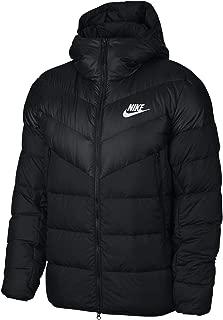NIKE Sportswear Windrunner Down Fill Men's Hooded Jacket (Black/Black, Medium)