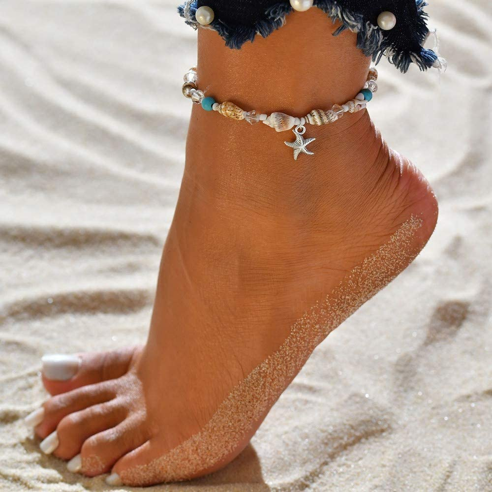 Beaded Anklet Beach Jewelry Unique Anklet Foot Jewelry Personalize Anklet Anklets for Women Foot Bracelet Beach Anklet Anklet Gift