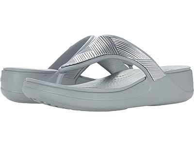 Crocs Monterey Metallic Wedge Flip