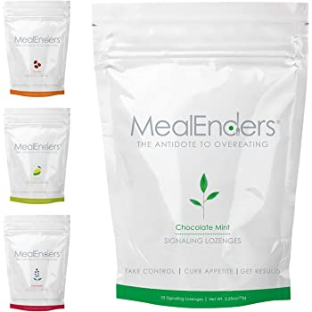 MealEnders Cravings Control Lozenges | Stop Overeating, Curb Cravings and Reduce Snacking | 25-Count Bag (Pack of 4) (4 Flavors)