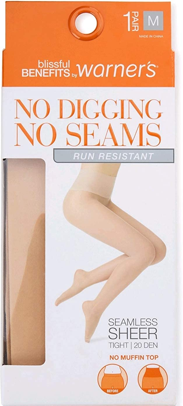 Nude 1 20 Den No Muffin Top Seamless Sheer Run Resistant Tight
