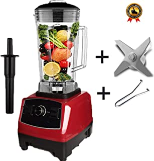 Heavy Duty Blender Professional Blender Mixer Food Processor Japan Blade Juicer Ice Smoothie Machine,Red blade tool,US Plug