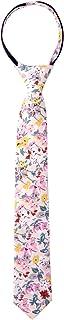 Spring Notion Boys' Cotton Floral Skinny Zipper Tie