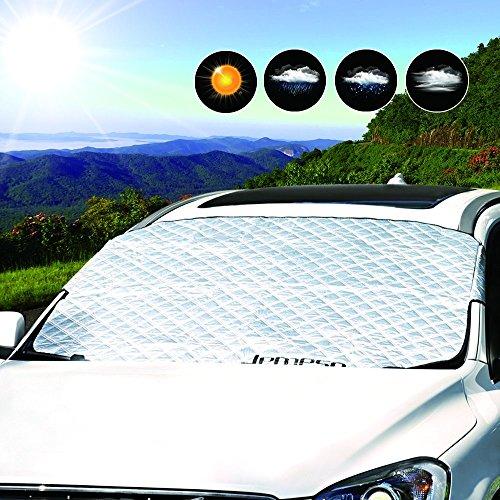 LEMESO Pare Soleil Voiture Contre Chaleur UV, Neige Couverture Pare Brise Avant (140 x 113cm)
