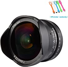 7artisans 7.5mm F2.8 APS-C Wide Angle Fisheye Fixed Lens For Olympus and Panasonic MicroM4/3 Cameras,Black (7.5mm F2.8 M4/3)