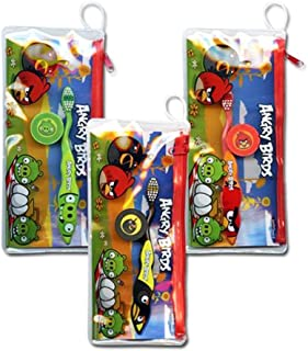 Angry Birds Toothbrush with Cap and Travel Pouch (Color May Vary)
