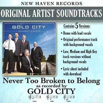 Never Too Broken to Belong - EP
