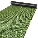 Alfombra para pasillo o cocina, antideslizante, terciopelo verde, 65 x 200 cm, moderna