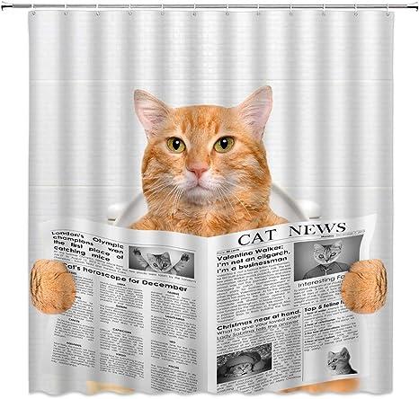 Kitty Cat Kittens White Gray orange Animal Curtain Valance