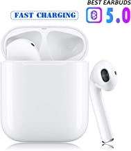 Wireless Earbuds Bluetooth 5.0 Headphones Hi-Fi Stereo Bluetooth Headsets with Fast Charging Case 24H Playtime Smart Touch Pop-Up Pairing for iPhone Apple Airpods Samsung Sports Headphones