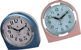 FLAMEER 2-delad väckarklocka, lätt, perfekt för hem och resor, bärbar snooze-funktion