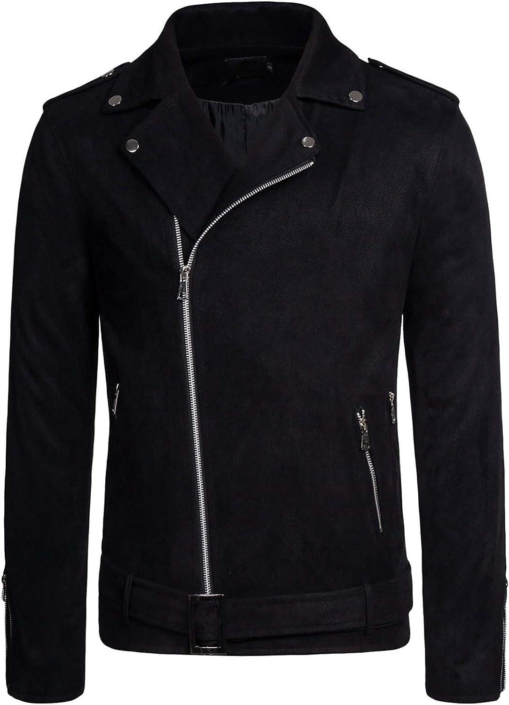 Men Cool Casual Long Sleeve Oblique Zipper Hip Hop Hoodie Fashion Slim Fit Pullover Lightweight Black Sweatshirt