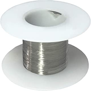 "Stainless Steel 316L Wire, 42 AWG Gauge, 0.0025"" Diameter, 1000 Feet"