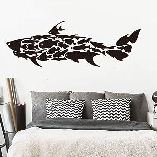 Dass Stickers muraux Big Shark Marine Fish Cartoon Animal, Art Moderne Vinyle Accessoires Papier Peint, for bébé Chambre C...