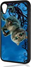 (for iPhone XR) Durable Protective Soft Back Case Phone Cover - HOT11123 Cheshire Cat