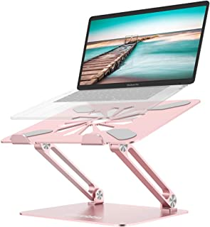 Laptop Stand, Adjustable Computer Riser Notebook Holder for Laptop, Ergonomic Foldable Portable Laptop Lift for Desk, Compatible for Apple MacBook Pro/Air, Dell, Lenovo, ASUS , HP, (10-17 inches) PC