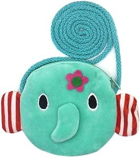 Plush Cartoon Animals Mini Zipper Coin Purse Small Wallet Pouch Crossbody Bag