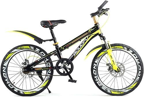 SXMXO Jungen Rennr r 16 18 20IN Kinderfürrad, Sicherheits-Doppelbremse rutschfest Tragen Sie Best ig Reifen Student Mountainbikes Einzelgeschwindigkeit,20inch