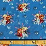 Loopomio Jersey Stoffe Frozen Anna und ELSA blau 1,00m x VB