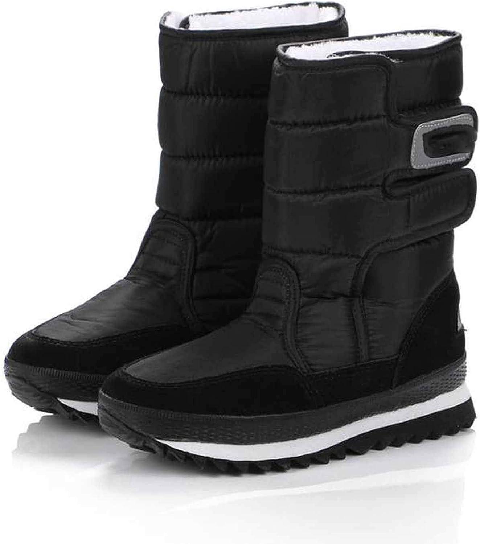 Thirsty-X Platform Warm Boots Woman Snow Plus Size Warm Slip on Mid-Calf Boots shoes .ZYMY-xz-29