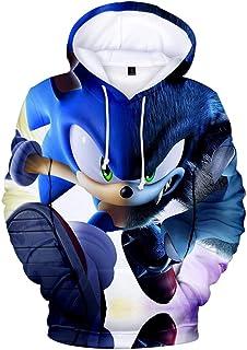 Hoodies Sonic Kinderen 3D Printen Sweatshirts met capuchon