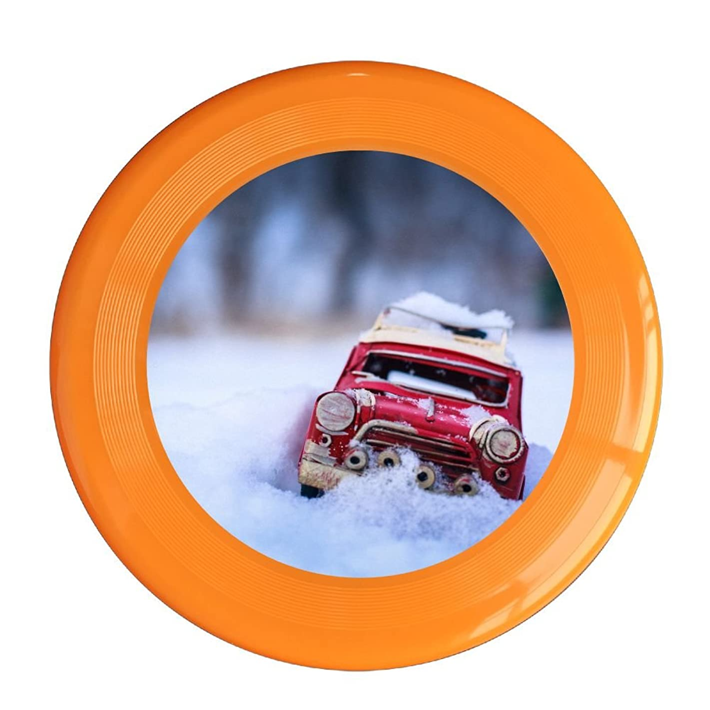 Skkoka Frisbee Red Toy Car In The Snow In Winter Frisbee Family Fun Group Game Variety Of Colors Durable Frisbee Yellow