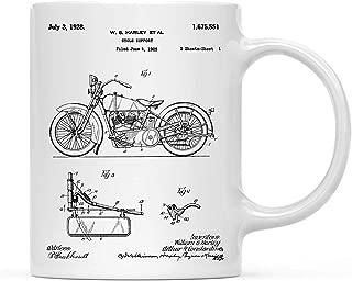 Regalo de Navidad de cumpleaños de taza de café, Harley Davidson Modelo JD 1925 Canvas Art, paquete de 1, Arte de motocicleta, Motocicleta Harley Davidson