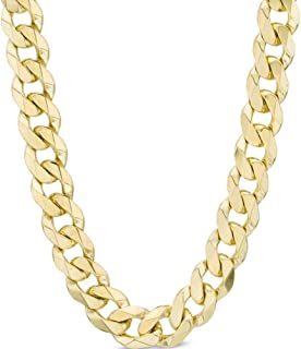 10K Gold 2.5MM, 4.5MM Cuban Curb Link Necklace- 10K Gold Necklaces, 10K Cuban Necklace, 10K Gold Curb Chain | 10K Gold Chain for Men and Women