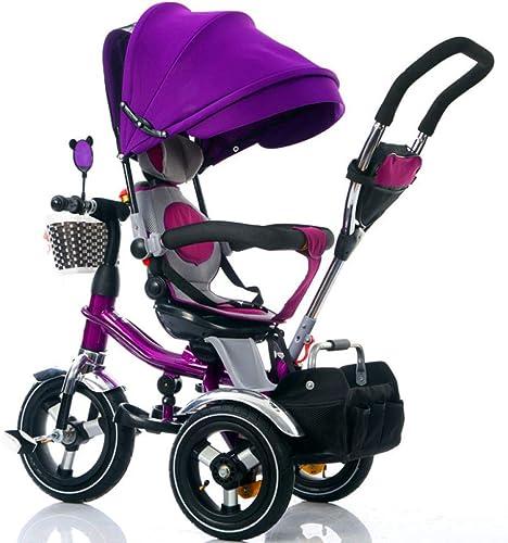 Hejok Tricycle Enfant avec PoignéE, Trikes pour Enfants pour Garçons avec PoignéE 3 Roues pour 6 Mois à 5 Ans, Poids Maximum 30 Kg, Jaune