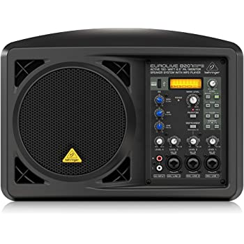 "BEHRINGER B207MP3 Active 150-Watt 6.5"" Pa/Monitor Speaker System with Mp3 Player Black"