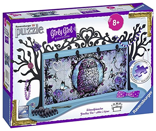 Ravensburger 3D-Puzzle 12079 - Girly Girl Edition Schmuckbäumchen - Animal Trend, 108-teilig