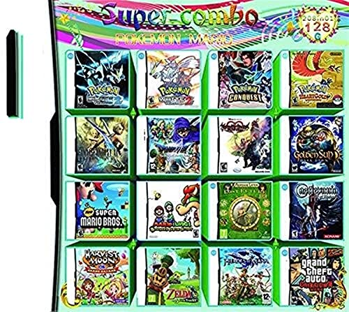 UJETML J1 208 en 1 Juego Cassette, NDS Game Pack Card DS Game Compatible para Super Combo NDS DS 2DS Nuevo 3DS XL Juego