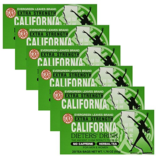 Evergreen Leaves California Dieter's Drink Extra Strength Tea 1.76 oz (6 Pack)