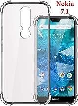 Jkobi Silicon Flexible Shockproof Corner TPU Back Case Cover For Nokia 7.1 -Transparent