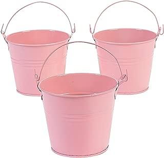 12 Pastel Pink Tinplate Pails