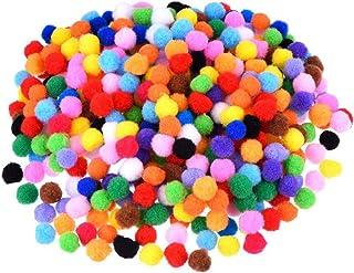 """Wakauto 2000 peças de pompons sortidos de 10 mm bolas coloridas de artesanato para projetos de artesanato """"faça você mesm..."""