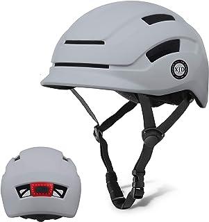 XJD Casco de Bicicleta para Adultos Protección de Bici Ciclismo USB Recargable Luz Urban Commuter Ligero Casco de Multidep...