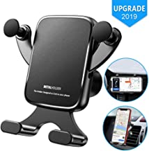 Car Phone Mount, Phone Holder for Car Vent, Handsfree Car Mount 360 Degree Cell Phone Holder for Car Air Vent Horizontal & Vertical Place Compatible iPhone XR XS X 8 7 6S, Galaxy S10/S9/S8