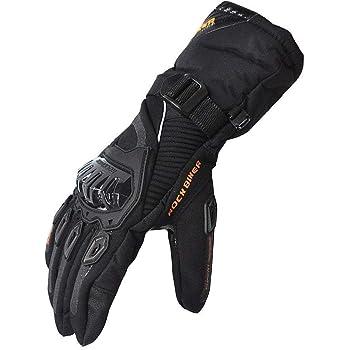 kemimoto Winter Motorcycle Gloves, Rainproof Riding Gloves with Touchscreen, Motorcycle Winter Gloves for Men, Warm Motorcycle Gloves for Riding, ATV, UTV, Snowmobile - Black, Medium