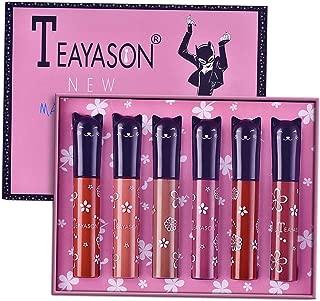 Perfeclan 6pcs Matte Liquid Lipstick Matte Liquid Lipgloss Waterproof Lip Gloss