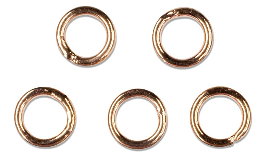 Cousin Jewelry Basics 4mm Closed Jump Ring, Rose Gold, 25-Piece