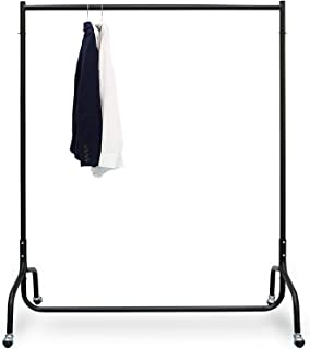 House of Quirk Clothes Rack for Hanging Clothes Clothing Rack on Wheels Garment Rack Clothes Hanger Heavy Duty Clothes Rai...