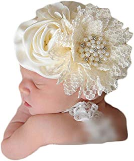 Baby Girl Super Elastic Headband Big Lace Petals Toddler Hair Band Toddler Soft Headwrap Set Children Hair Accessories Crown