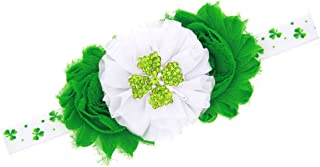 St. Patrick's Day Baby Girls Hair Band Green Clover Diamond Flower Headband JHSP01