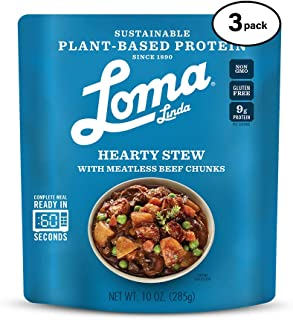 Loma Linda Blue - Plant-Based Complete Meal Solution - Heat & Eat Hearty Stew (10 oz.) (Pack of 3) - Non-GMO, Gluten Free