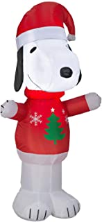ESG Warehouse 3.51 Ft Snoop in Christmas Tree Sweater Inflatable Outdoor Yard Decor Pre-Lit LED Airblown Holiday Decorations
