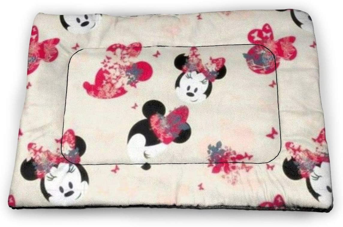 Pink Minnie Mouse Pet Pad for Hard Floors and in Pet Cages Small Size 18 X12